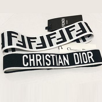 DIOR FENDI Popular Women Men Personality Sport Headband Head Hair Band (No Box)