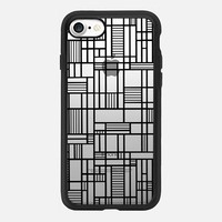 Map Lines Black Transparent iPhone 7 Case by Project M | Casetify