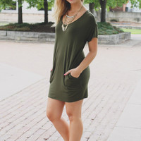 Current Crush Tunic - Olive