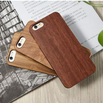 Natural Bamboo Wood Cover For iPhone