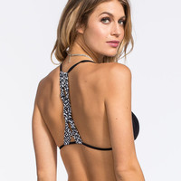 Damsel Macrame Bralette Bikini Top Black  In Sizes