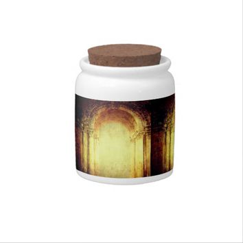 Old vintage fort main entrance gate texture design candy jar