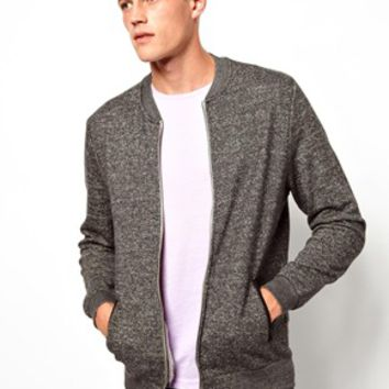 ASOS Bomber In Textured Jersey Fabric