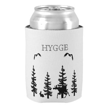 Hygge with nordic woods and wildlife silhouettes can cooler