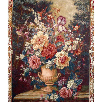 Flowers Tapestry Wall Hanging