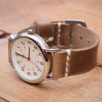 Driftwood Leather Watch Strap