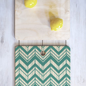 Heather Dutton Weathered Chevron Cutting Board Square