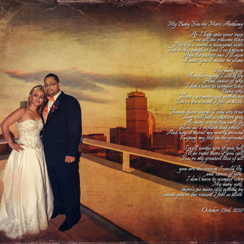 Wedding Anniversary Song Lyrics First Dance Photo Art Custom Photo Editing