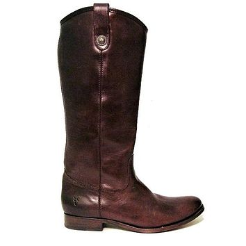 Frye Boot Melissa Button - Dark Brown Tall Riding Boot