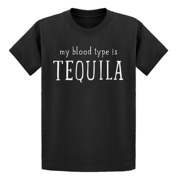 Youth My Blood Type is Tequila Kids T-shirt