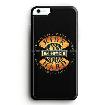 Harley Davidson Motorcycles Typography Art iPhone 6 Plus Case  | Aneend.com