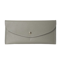 Gray Vegan Leather Envelope Wallet