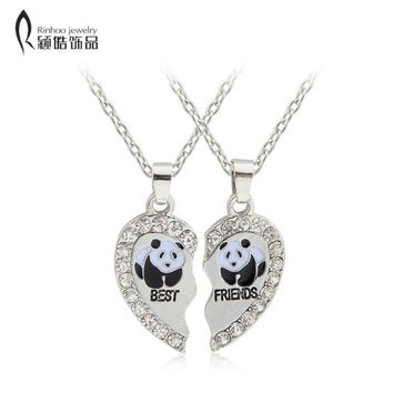 Personalized Gift for Friends Love animals Puzzle pendant necklace for best friends jewelry Vintage Couple Necklaces