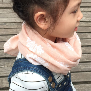 Children's autumn Winter Warm Scarf New Style Designer Kids sunflower Baby scarf cotton and flax Infinity scarves and shawls