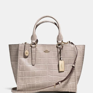 Crosby Carryall Satchel in Croc Embossed Leather