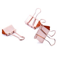 Large Rose Gold Binder Clip (15 pieces)