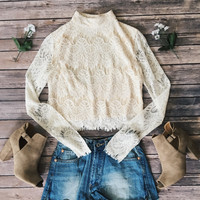 Emilia Cream Lace Top