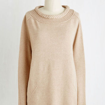 Mid-length Long Sleeve Wholesome Warmth Sweater