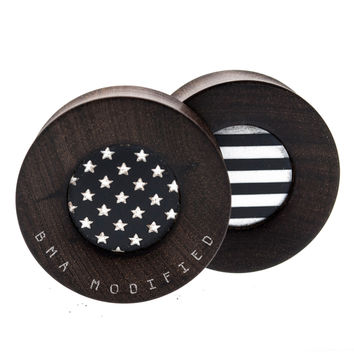 Stars & Stripes Katalox Wood Plugs (34mm) #7632