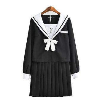 2018 summer british korean japanese school uniform women clothing for school uniforme escolar costume for girl and boy sets