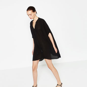 CREPE TUNIC - View All-DRESSES-WOMAN | ZARA United Kingdom