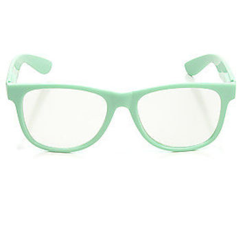 Accessories Boutique Glasses The Chapter Clear Lenses in Mint Green
