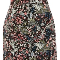 Woodland Jacquard Mini Skirt - Skirts - Clothing