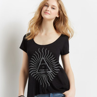 Eternal Strappy Back Hi-Lo Boxy Tee