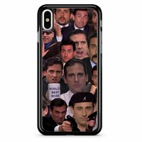 Michael Scott Collage iPhone X Case