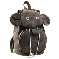 Kid Cute Elephant Canvas Backpack School Bag Travel Daypack