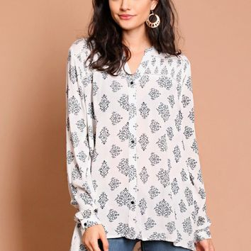 Torn Apart Medallion Blouse | Threadsence