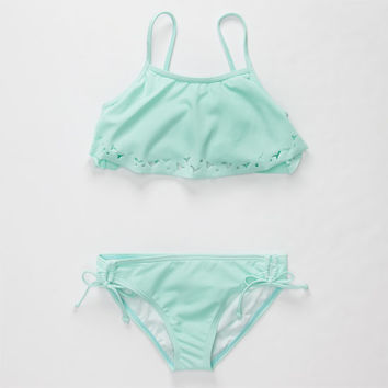 Reef Flounce Girls Bikini Set Mint  In Sizes