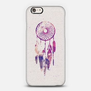 Girly Pink Purple Dream Catcher Watercolor Paint iPhone 6 case by Railton Road | Casetify