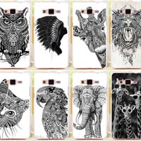 Elephant Giraffe Owl PC Plastic Phone Case Cover Skin Shell For Samsung Galaxy Grand Prime G530 G530H G5308W