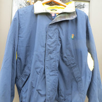 Vtg RALPH LAUREN Chaps  zip up  Windbreaker Jacket Mens Color Block Navy and yellow size..xlarge