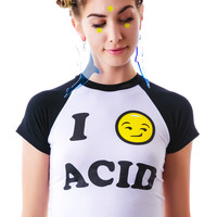 O Mighty Me Feelz 4 Acid Smiley Tee Tie Dye