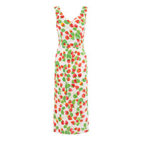 STRAWBERRY WRAP BACK DRESS
