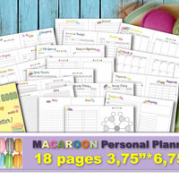 Personal size planner inserts monthly french macaroons macaron planner personal sized cute binders monthly agenda weekly docket kit