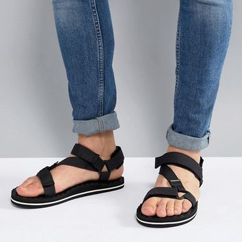 The North Face Base Camp Switchback Sandals in Black/White at asos.com