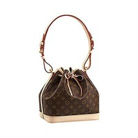 Authentic Louis Vuitton Monogram Canvas Petit No¨¦ NM Shoulder Bag Strap Handbag Articl