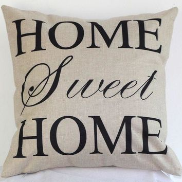 VONE05F Day First Sweet Home Pillow Cushion