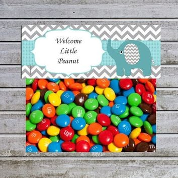 Treat Bag Toppers Candy Bag Toppers | Favor Bags Toppers Printable | Elephant Boy Baby Shower (57) | Little Peanut | Instant Download