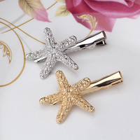 M MISM 2017 New Arrival Fashion Starfish Hairpins Hair Jewelry Women Hair Accessories Gold/Silver Plated Barrettes Hairgrips