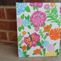 Lilly Pulitzer Inspired 8x10 Canvas - Ready to Ship