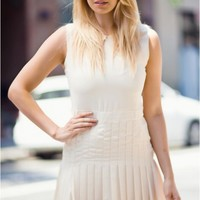 Off-white pleated dress
