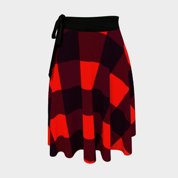 Plaid Wrap Skirt Wrap Skirt