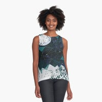 'winter geometry' Contrast Tank by Marianna Tankelevich