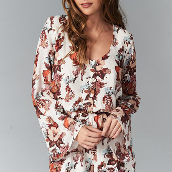 Show Me Your mumu Red Rocks Romper ~ Rustic Blooms