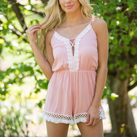 Festival Princess Embroidered Pink Romper