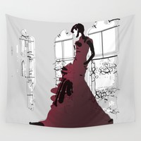 Gown Wall Tapestry by Allison Reich
